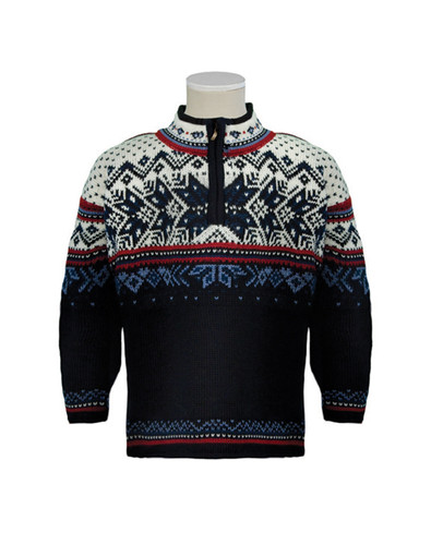 Childrens Dale of Norway Vail Pullover - Midnight Navy/Red Rose/Off White/Indigo/China Blue, 9034-C
