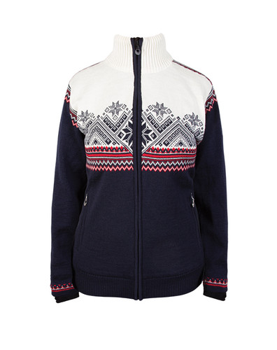 Ladies Dale of Norway Glittertind Windstopper Jacket in Navy/Raspberry/Light Charcoal/Off White, 83081-C
