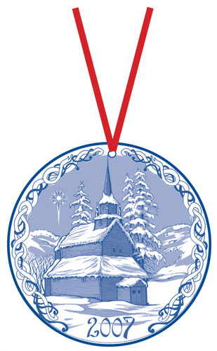 2007 Stav Church Ornament - Kaupanger