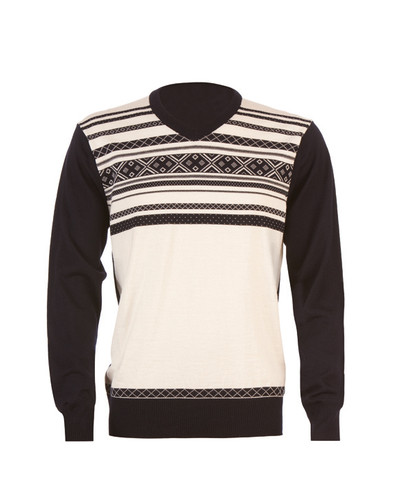 Dale of Norway Haakon Pullover, Mens - Off-White/Navy, 92321-A