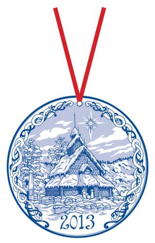2013 Stav Church Ornament- Eidsborg