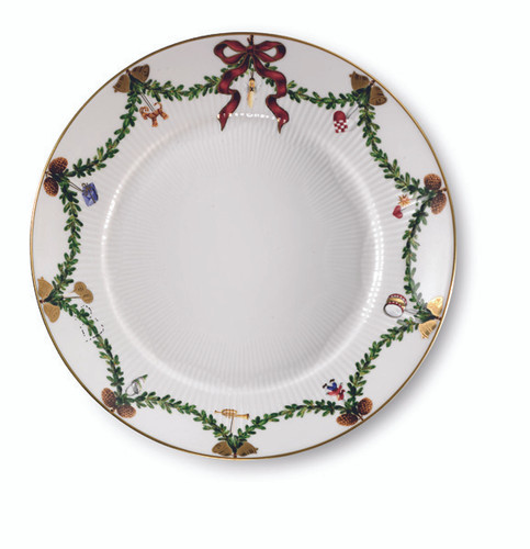 Star Fluted Christmas Salad Plate, 8.75""
