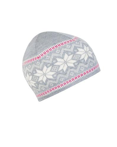 Ladies Dale of Norway Garmisch Hat - Grey Mel/Off White/Allium, 47971-I