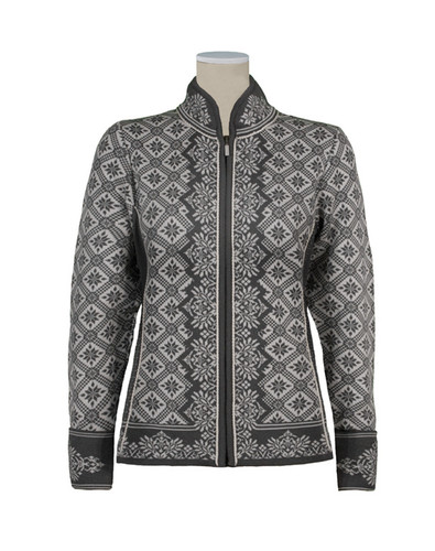 Ladies Dale of Norway Christiania Cardigan - Schiefer/Off White, 81951-E