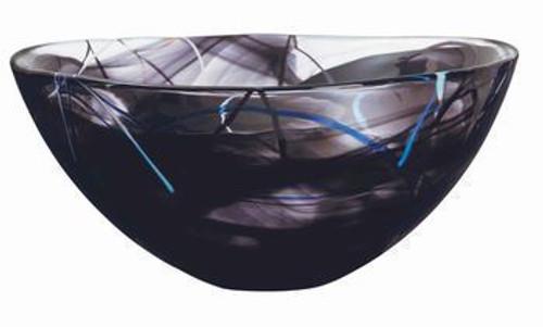 Kosta Boda Contrast Black Bowl- Large