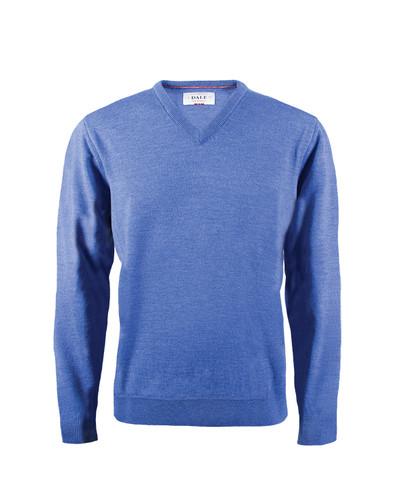 Dale of Norway Harald Sweater, Mens - Medium Blue Melange, 92412-H