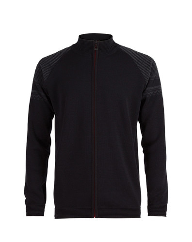 Mens Dale of Norway Beito Cardigan - Black/Dark Charcoal, 82641-F
