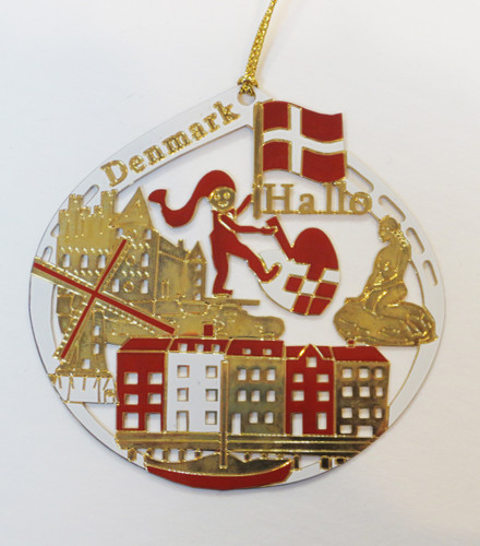 Danish Brass Christmas Ornament