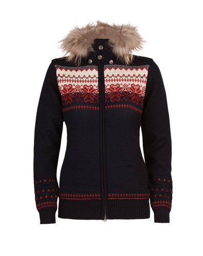 Ladies Dale of Norway Floyen Windstopper Jacket - Navy/Red Rose/Red Orange/Off White, 82841-C-DISCONTINUED