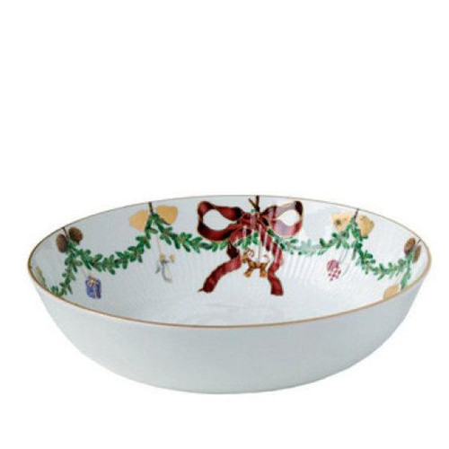 Star Fluted Christmas Serving Bowl