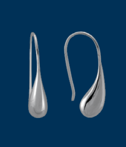Danish Silversmiths Teardrop Earrings
