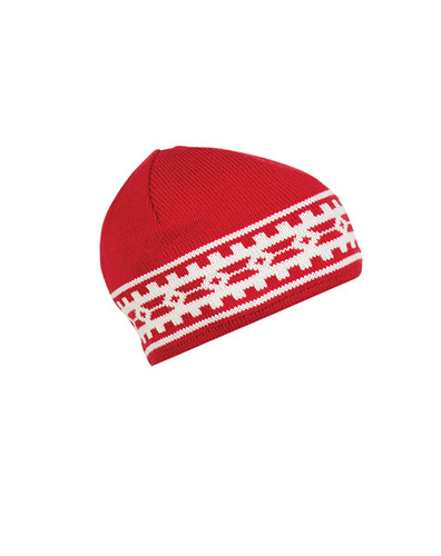 Dale of Norway Alpina Hat - Raspberry/Cream, 45531-B