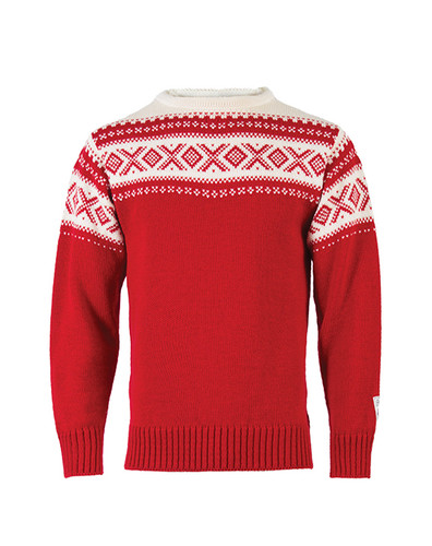 Dale of Norway Cortina 1956 Pullover - Raspberry/Off White, 92521-B