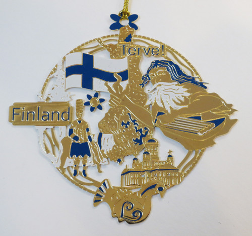 Finnish Brass Christmas Ornament