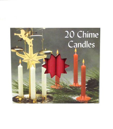 Angel Chime Candles - Red