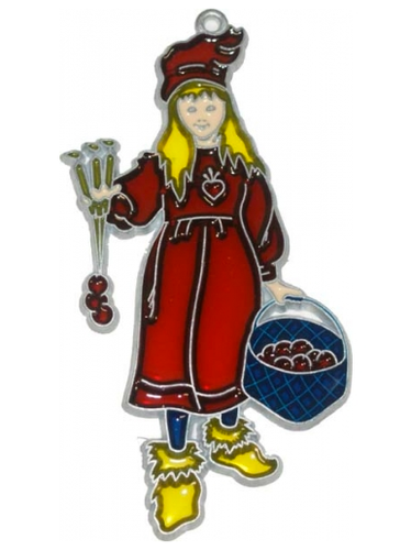 Carl Larsson Apple Girl Suncatcher Christmas Ornament - Brita