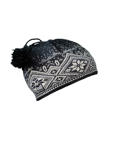 Dale of Norway Fjord Windstopper Hat - Dark Charcoal/Cream/Smoke, 40561-E