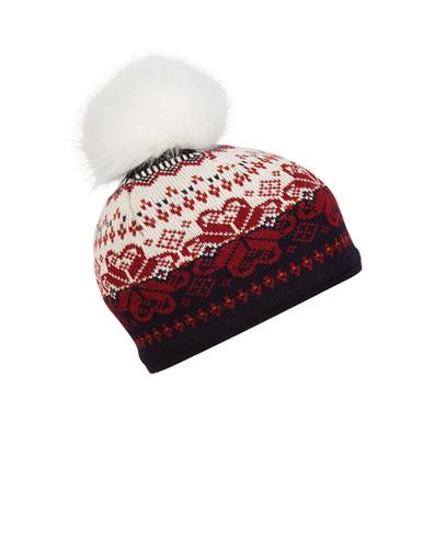 Ladies Dale of Norway Floyen Hat - Navy/Red Rose/Orange/Off White, 42851-C