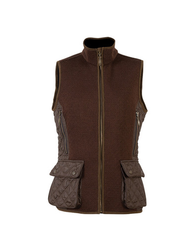 Ladies Dale of Norway Jeger Knitshell Vest - Mocca, 85041-R