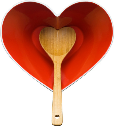 Sagaform - Heart Bowl with Spoon
