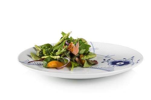 "Blue Fluted Mega - Dinner Plate Coupe 10.75"""