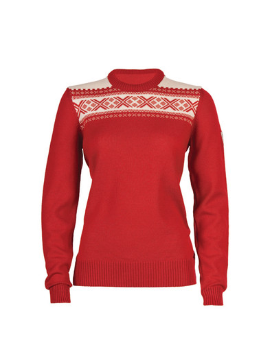 Ladies Dale of Norway Hemsedal Pullover--Raspberry/Off White, 92301-B-DISCONTINUED