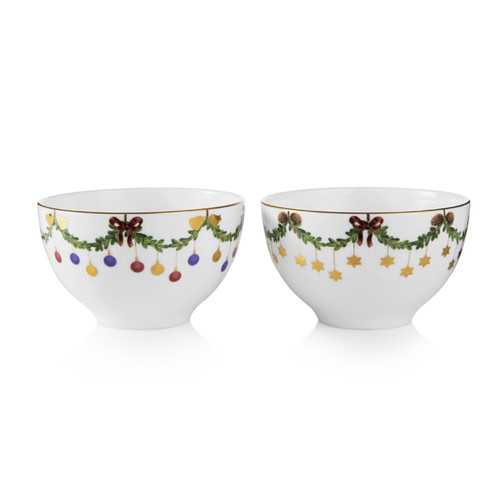 Star Fluted Christmas 2-Pack Chocolate Bowls