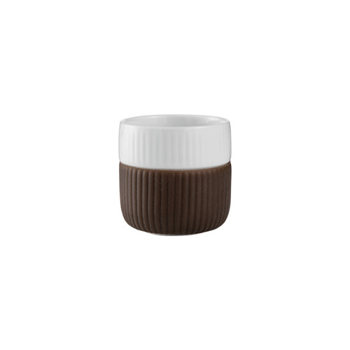 Royal Copenhagen Fluted Contrast Espresso Mug - Chocolate