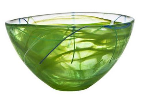 Kosta Boda Contrast Lime Bowl- Medium