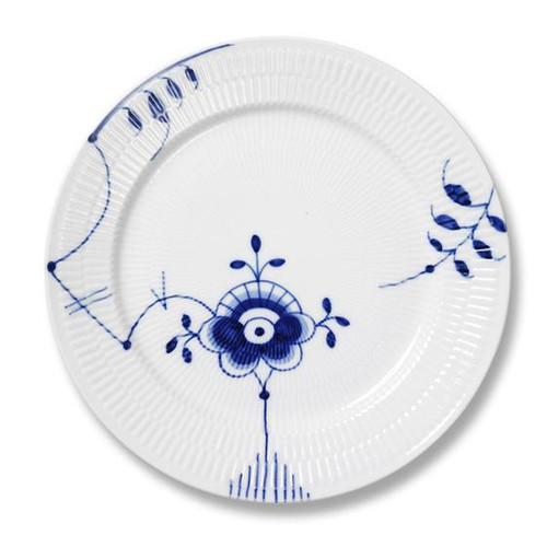 Blue Fluted Mega - Dinner Plate, No. 6, 10.75""