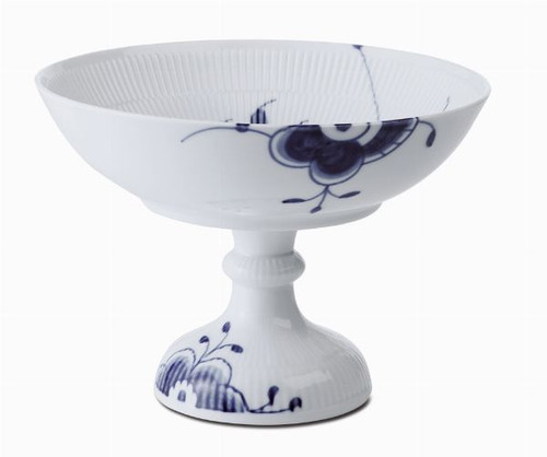 Blue Fluted Mega - Bowl on Foot, 5.5""