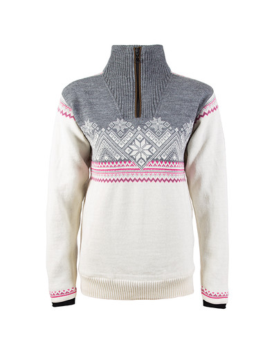 Dale of Norway Glittertind Windstopper Sweater, Ladies - Off White/Light Charcoal/Allium/Smoke, 92981-A