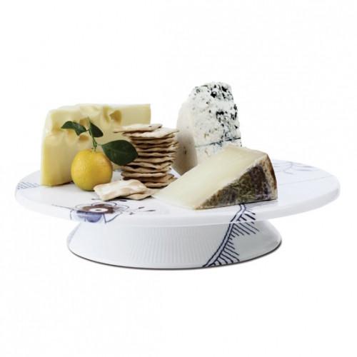"""Blue Fluted Mega - Cake Plate, 12.5"""""""