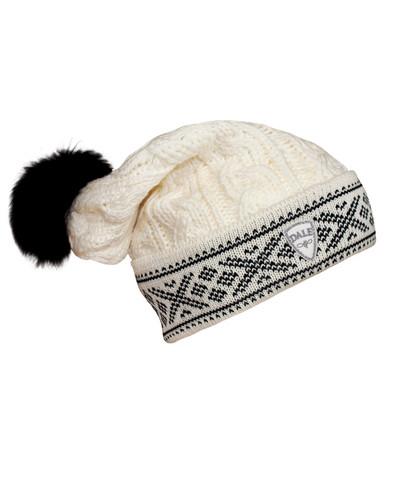 Ladies Dale of Norway Kapp Flora Hat - Off White/Black, 40016-A