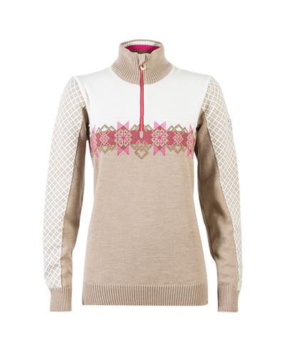 Ladies Dale of Norway Fjell Pullover - Light Beige/Bronze Mel/Allium/Off-White, 92571-P
