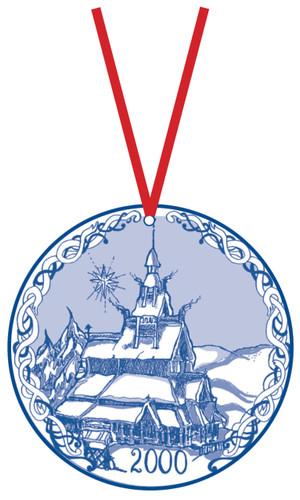 2000 Stav Church Ornament - Fortun