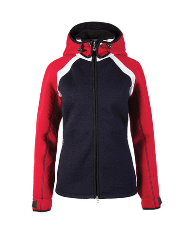 Dale of Norway Jotunheimen Knitshell Jacket, Ladies - Navy/Raspberry/Off White, 85141-K
