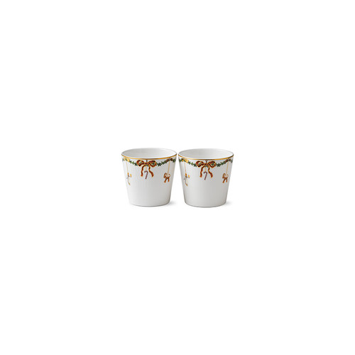 Star Fluted Christmas Serving Cups - Set of 2