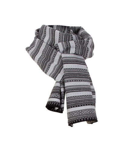 Dale of Norway Vinje Scarf - Black/Off White/Light Charcoal/Dark Charcoal, 10021-J