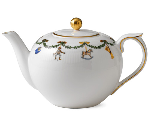 Star Fluted Christmas 1.5 quart Tea Pot