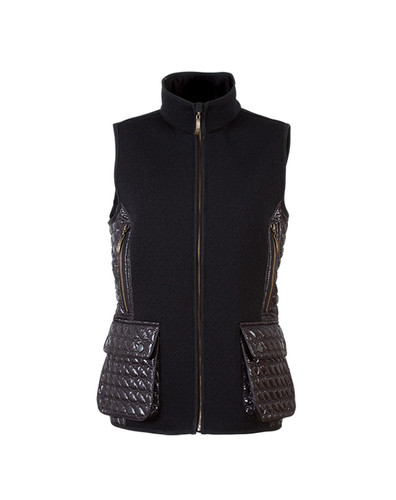 Ladies Dale of Norway Jeger Knitshell Vest - Black, 85041-F