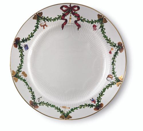 Star Fluted Christmas Dinner Plate