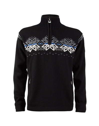 Dale of Norway Snetind Windstopper Sweater, Mens - Black/Off White/Cobalt/Smoke, 92851-F