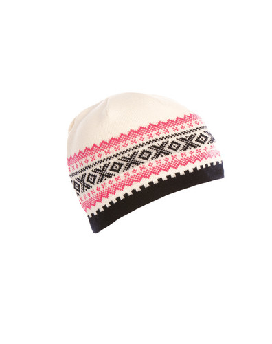 Ladies Dale of Norway Kongsvollen Hat - Off White/Navy/Allium, 40591-A