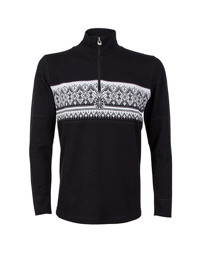 Dale of Norway Rondane Pullover, Mens - Black/White Mel, 92691-F