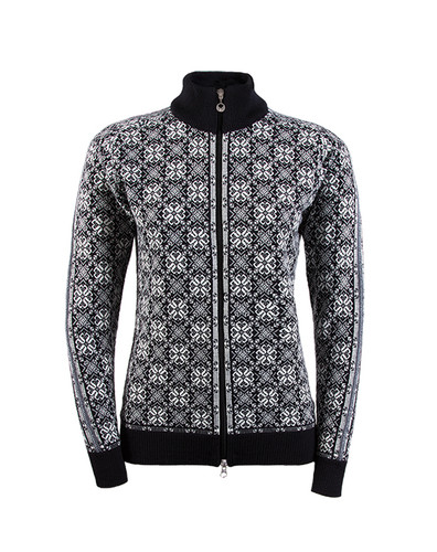 Ladies Dale of Norway Frida Cardigan in Black/Off White/ Schiefer/Grey, 82931-F