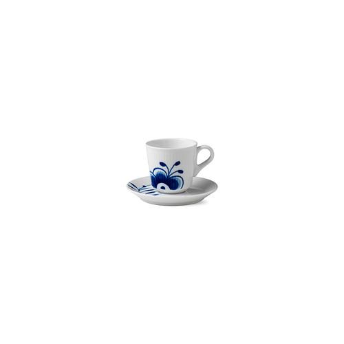 Blue Fluted Mega - Espresso Cup & Saucer, 3 oz.