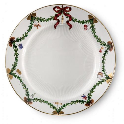 "Star Fluted Christmas Dessert/Salad Plate 7.5"""