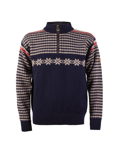 Dale of Norway Fisketorget Mens Sweater - Navy, 92671-C