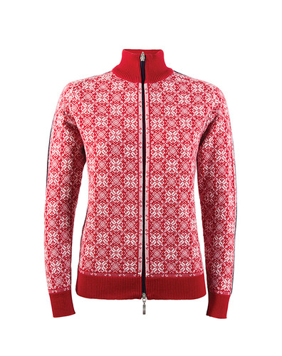 Dale of Norway Frida Cardigan, Ladies - Raspberry/Off-White/Navy/Metal, 82931-B